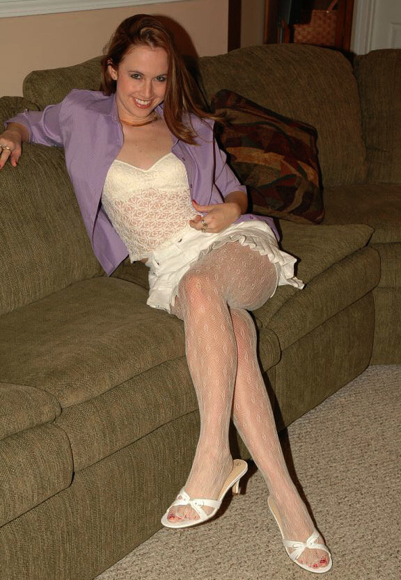 White Pantyhose With 89